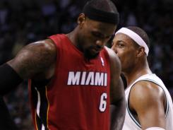 A record crowd in the country's largest markets tuned in to watch LeBron James' 45-point night Thursday as his Heat beat Paul Pierce and the Celtics 98-79.