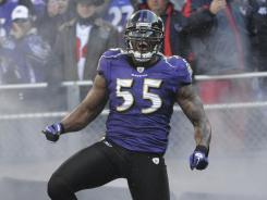Ravens OLB Terrell Suggs was the NFL's defensive player of the year in 2011.
