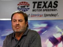Eddie Gossage, pictured, laughed at Randy Bernard's insinuation that IndyCar should take over promoting races at Gossage's Texas Motor Speedway.
