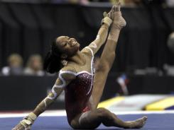 Gabby Douglas performs in the floor exercise Friday at the U.S. gymnastics championships.