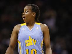 Chicago Sky guard Epiphanny Prince, the WNBA scoring leader, finished with 32 points in the Sky's win over the Tulsa Shock Friday night.