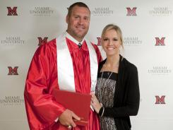 Pittsburgh Steelers quarterback Ben Roethlisberger and his wife, Ashley, are expecting a baby boy this year. Roethlisberger graduated from Miami (Ohio) last month.