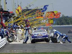 Pocono Raceway's pit road was a busy place Sunday as 22 speeding penalties were issued by NASCAR.