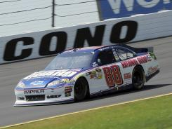 Dale Earnhardt Jr. led 36 laps during his eighth-place run at Pocono Raceway.