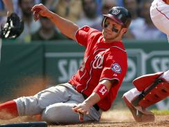 Bryce Harper scores the game-winning run to give the Nationals a sweep of the Red Sox.