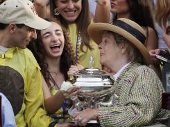 NBC says it moved the Belmont Stakes trophy presentation to accommodate Union Rags owner Phyllis Wyeth.