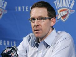 Sam Presti, general manager of the Oklahoma City Thunder, has his team on the verge of an NBA title.