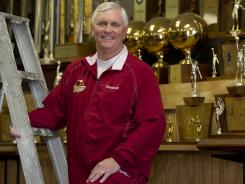St. Anthony (Jersey City) basketball coach Bob Hurley, who was USA TODAY's boys basketball Coach of the Year in 2011, is presented with a large cake on Monday's Cake Boss.