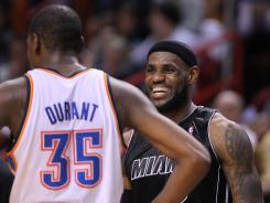 Miami Heat forward LeBron James and Oklahoma City Thunder forward Kevin Durant led their teams to the NBA Finals.