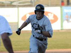 Kent State's Nick Hamilton runs to third. Hamilton had a rough day at the plate, going 0-for-3 with a walk.