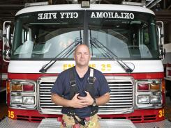 "Chris Fields, the Oklahoma City firefighter made famous by the iconic photograph of him carrying a baby from the rubble of the bombed Alfred P. Murrah Federal government building in 1995, now says: ""It's like the mistakes I wish I could go back and change. I can't change that. It doesn't define me. It's not who I am. But it's part of me. I used to struggle with that."""