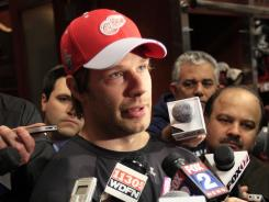 Detroit Red Wings defenseman Brad Stuart said being closer to his family was a priority.