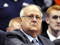 This Nov. 14, 2011 file photo shows Syracuse basketball assistant coach Bernie Fine. Fine, 66, was fired in November, during his 36th year on the staff, after the allegations became public. He has denied the accusations and has not been charged. A federal investigation is still under way.