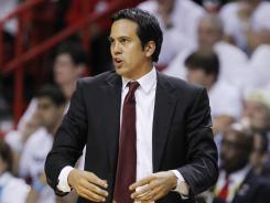 Miami Heat head coach Erik Spoelstra has the Heat back in the NBA Finals for a second consecutive year.
