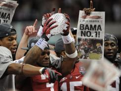 The University of Alabama Crimson Tide celebrates last year's BCS title after beating fellow SEC member LSU.