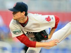 Red Sox starting pitcher Clay Buchholz struck out a season-high nine Marlins in Boston's 2-1 win.