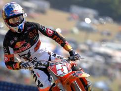 Ryan Dungey, shown Saturday, says he is happy he opted to join Red Bull KTM.