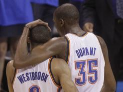 The Oklahoma City Thunder tandem of Russell Westbrook and Kevin Durant combined for 63 points in Game 1.