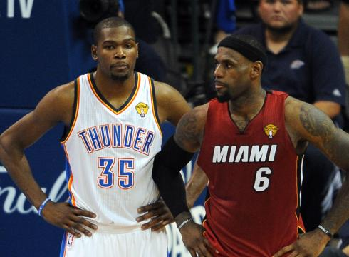 Thunder forward Kevin Durant  Lebron James And Kevin Durant