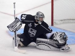 Kings goalie Jonathan Quick was named MVP of the Stanley Cup playoffs.