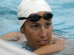 Janet Evans, who in the late 80s and early 90s was the best distance swimmer in the world, is attempting to return to the U.S. Olympic trials.