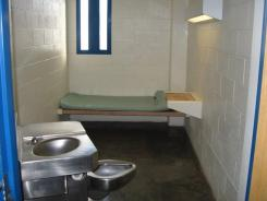 Floyd Mayweather's 7-foot by 12-foot jail cell at the Clark County Detention Center in Las Vegas.