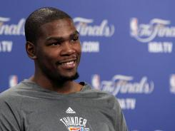 Looking at all that Oklahoma City Thunder forward Kevin Durant has accomplished  three-time NBA scoring champ, All-Star, playing in the NBA Finals  it's tough to remember he's only 23.