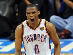 Oklahoma City Thunder guard Russell Westbrook has been dealing with a thumb injury but the team says he should be fine for Game 2 of the NBA Finals vs. the Miami Heat later Thursday.