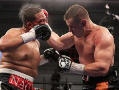 Tomasz Adamek, right, defeated Nagy Aguilera in Marfch.