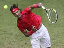 Spain's Rafael Nadal, above, lost Friday to Philipp Kohlschreiber of Germany in the quarterfinals of the Gerry Weber Open in Halle, Germany.