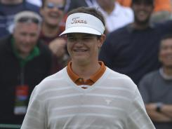 Beau Hossler flashes his braces-filled smile during the final round of the U.S. Open.
