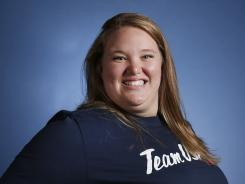 Holley Mangold played football in high school before turning to weightlifting. Her brother, Nick Mangold, plays for the New York Jets.