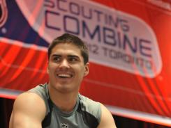 Projected No. 1 pick Nail Yakupov works out at this month's scouting combine.