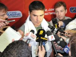 Nail Yakupov drew plenty of attention at the draft combine as the expected No. 1 pick.