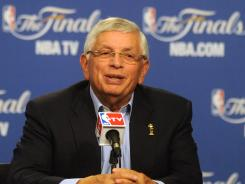 NBA Commissioner David Stern has expressed concern that too many players are deceiving referees into calling fouls by falling down, or flopping.