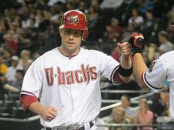 Aaron Hill's seventh-inning homer made him the fifth Arizona player to hit for the cycle
