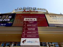 Jobing.com Arena is where the Phoenix Coyotes play their home games.
