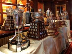 The NHL hardware that will be given out to the leagues top players during the NHL Awards ceremony.