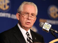 &quot;I am delighted,&quot; Southeastern Conference Commissioner Mike Slive says of the commissioners' endorsement of a four-team playoff.