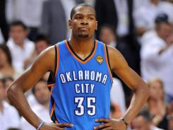Kevin Durant is as perplexed as anyone on how to turn around the Thunder's fortunes and stay alive in the NBA Finals.