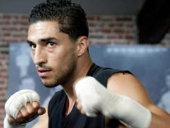 Josesito Lopez trains during a media workout this week leading up to his fight against Victor Ortiz on Saturday at Staples Center.