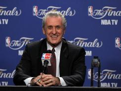 Pat Riley is on the brink of his second NBA championship with the Miami Heat, first as their club president.