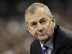 Connecticut head coach Jim Calhoun's team is ineligible for the 2012-13 postseason because of poor academics.
