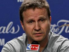 Oklahoma City Thunder head coach Scott Brooks' father left him as a 2-year-old.