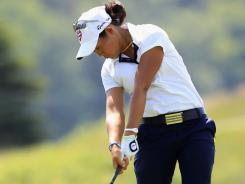 Sandra Changkija hits her second shot on the sixth hole in the first round of the Manulife Financial LPGA Classic. Changkija played college golf at Nova Southeastern University