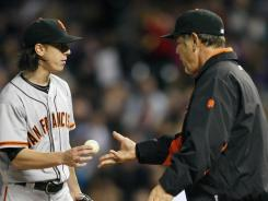 Lincecum has handed the ball to manager Bruce Bochy more times than he'd like.
