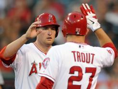 Youth is served: Sparked by Mark Trumbo, left, and Mike Trout, the Angels