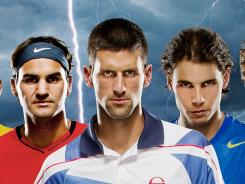 Tennis' big three, Novak Djokovic, Rafael Nadal and Roger Federer, have won 28 of the past 29 majors tournaments.