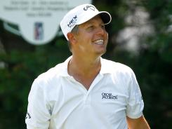 Fredrik Jacobson fired 4-under 66 to take the lead during the second round of the Travelers Championship.