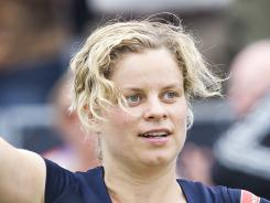 Kim Clijsters of Belgium withdrew Friday from the Unicef Open because of an abdominal injury.